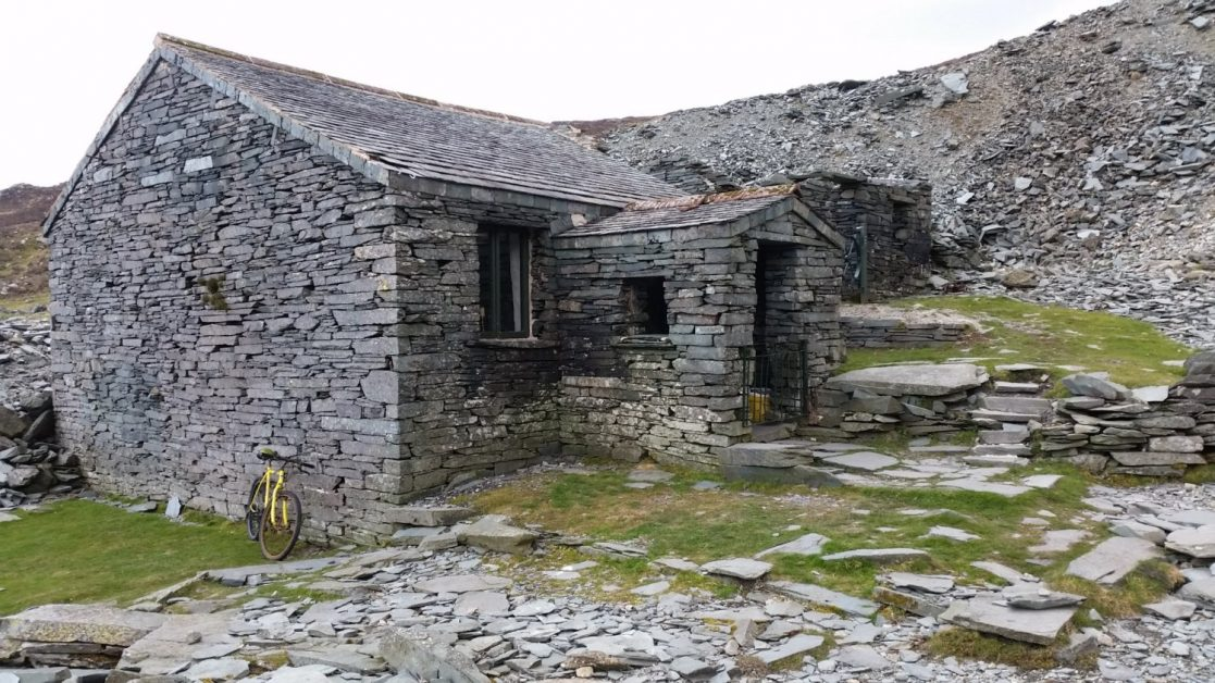 A Bothy made from local slate. Perfect if you need some shelter