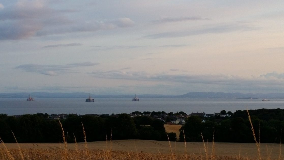 Looking out to the Firth of Forth